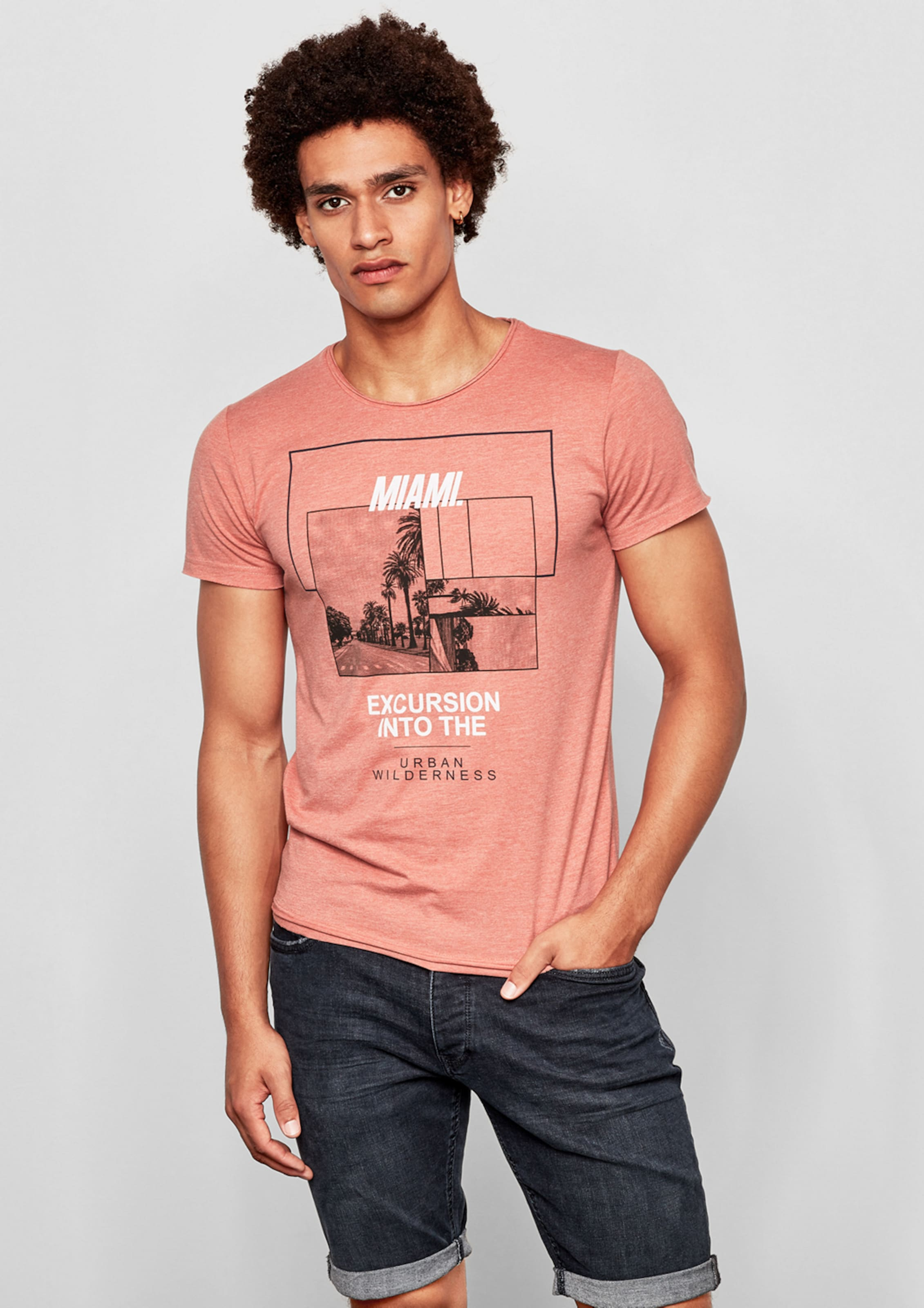 Shirt In Weiß s By Q Designed AnthrazitLachs sQdCthxr