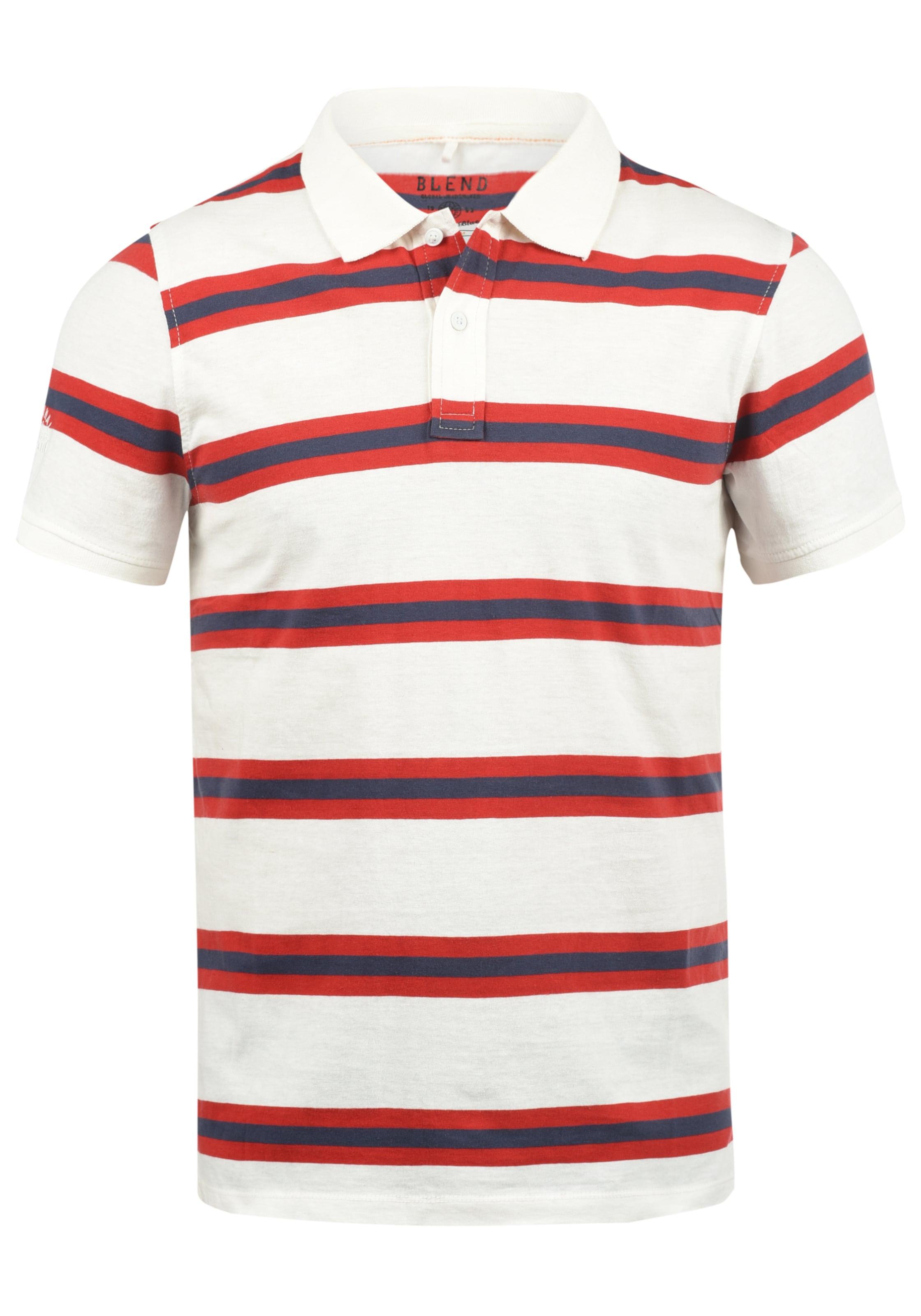 Blend 'pique' Poloshirt In Poloshirt Blend RotWeiß In 'pique' 2YW9eIEHbD