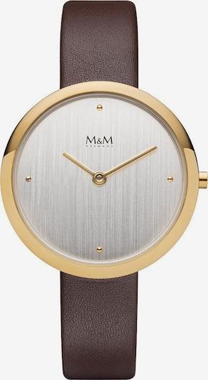 M&M GERMANY Quarzuhr 'Circle Line' in dunkelbraun / gold / silber, Produktansicht
