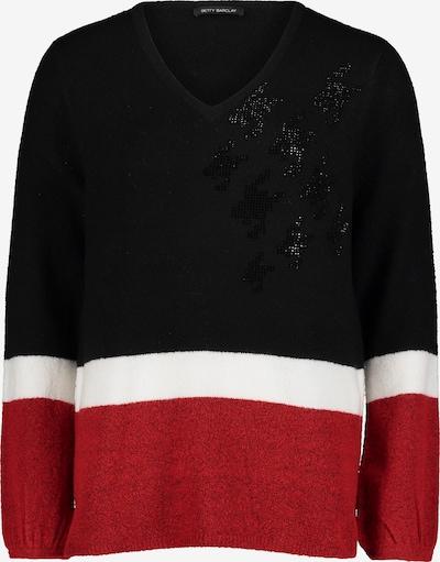 Betty Barclay Strickpullover mit Color Blocking in schwarz, Produktansicht