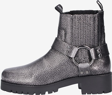BRONX Ankle Boots in Silver