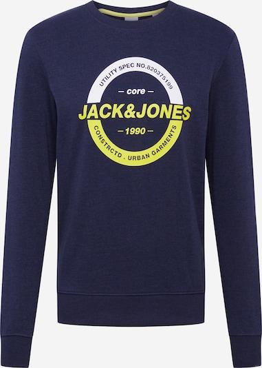 JACK & JONES Sweatshirt 'COSTRONG' in dunkelblau / gelb / weiß, Produktansicht