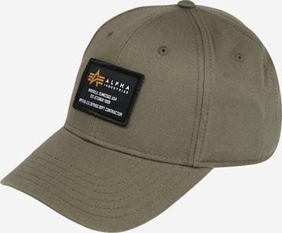 ALPHA INDUSTRIES Cap in khaki / schwarz / weiß, Produktansicht