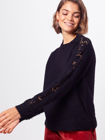 Megztinis 'Merla' iš VERO MODA , spalva - juoda: Vaizdas iš priekio