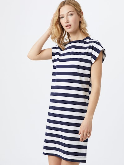 GAP Kleid 'SS TEE DRESS - STP' in navy / weiß, Modelansicht