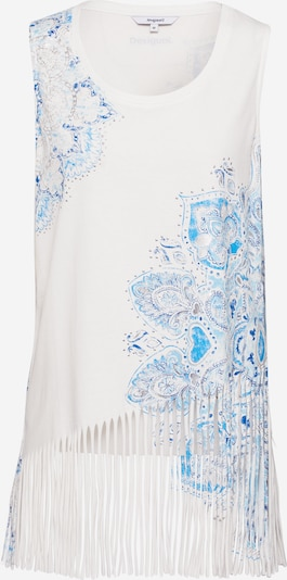 Desigual Top 'Flecos' in de kleur Lichtblauw / Wit, Productweergave