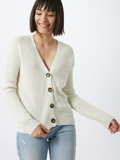 PIECES Knit cardigan in Wool white, View model