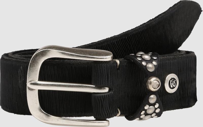 b.belt Handmade in Germany Ledergürtel mit Zierschlaufe