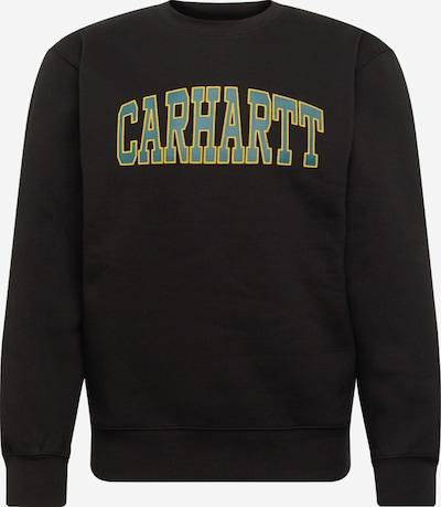 Carhartt WIP Sweatshirt 'Theory' in dunkelgrün / schwarz: Frontalansicht