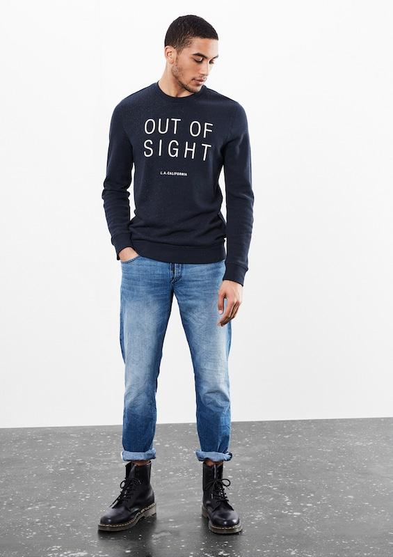 Q/S designed by Softes Sweatshirt mit Wording