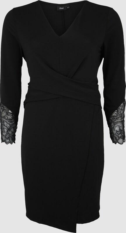 Zizzi Kleid 'EPAULINE, L S, DRESS' in schwarz  Mode neue Kleidung