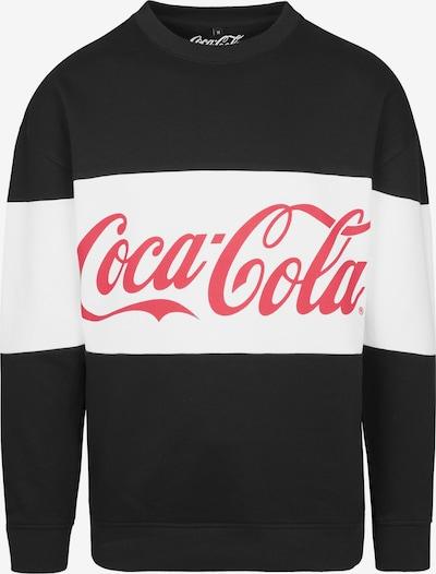 Mister Tee Crewneck 'Coca Cola' in rot / schwarz / weiß: Frontalansicht