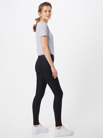 TOM TAILOR DENIM Jeans 'Nela' in black denim: Rückansicht