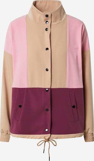 ICHI Jacke in beige / beere / pink, Produktansicht