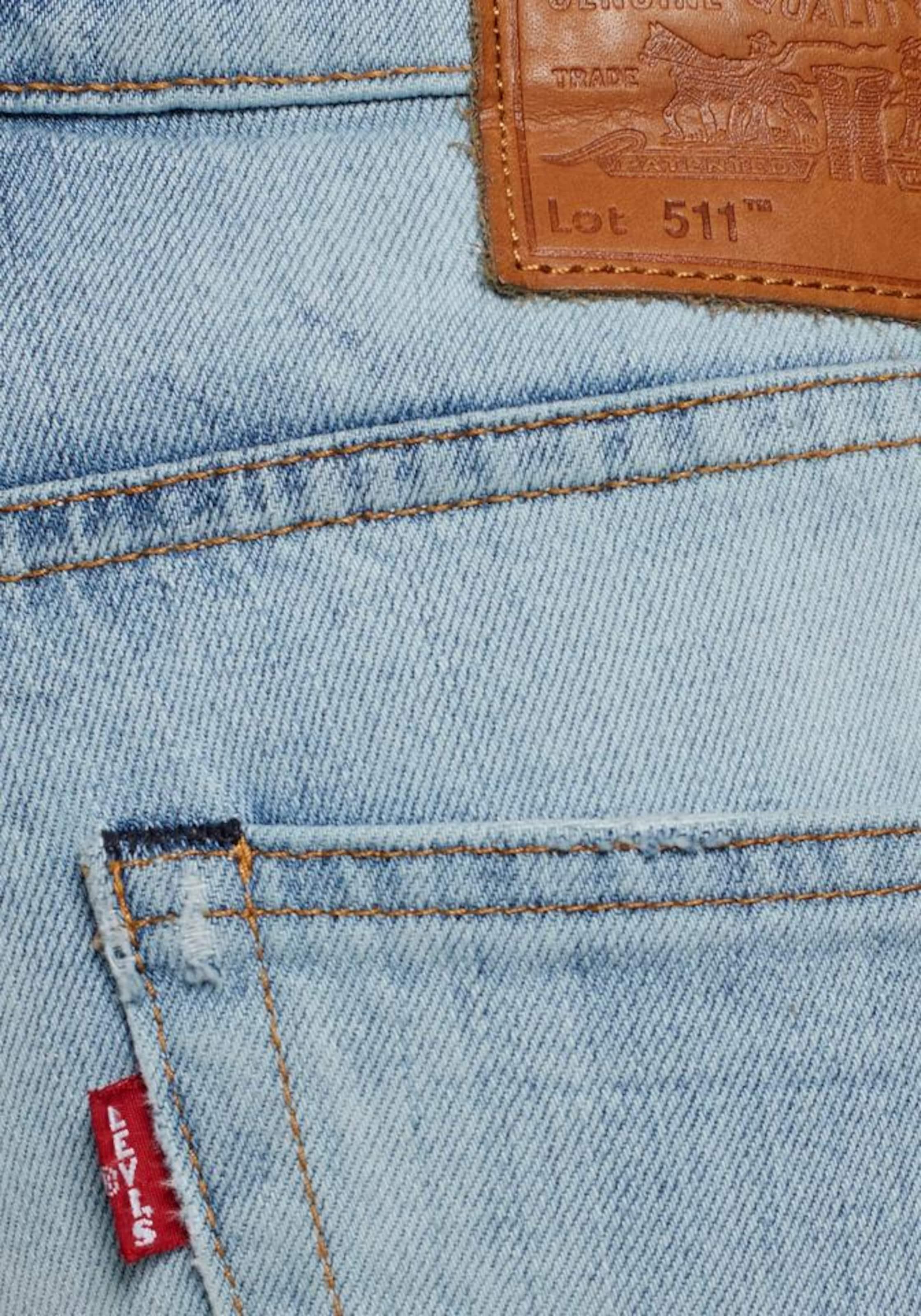 LEVI'S Jeans '511SLIMHEMMEDSHORT' i ljusblå