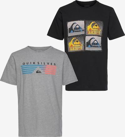 QUIKSILVER T-Shirt in blau / gelb / graumeliert / koralle / feuerrot / schwarz, Produktansicht