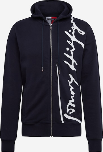 TOMMY HILFIGER Tepláková bunda 'SIGNATURE HOODED ZIP THROUGH' - tmavomodrá, Produkt