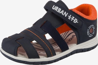 Sprox Sandalen in dunkelblau / orange, Produktansicht