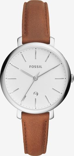 FOSSIL Uhr 'Jacqueline' in hellbraun / silber / weiß, Produktansicht