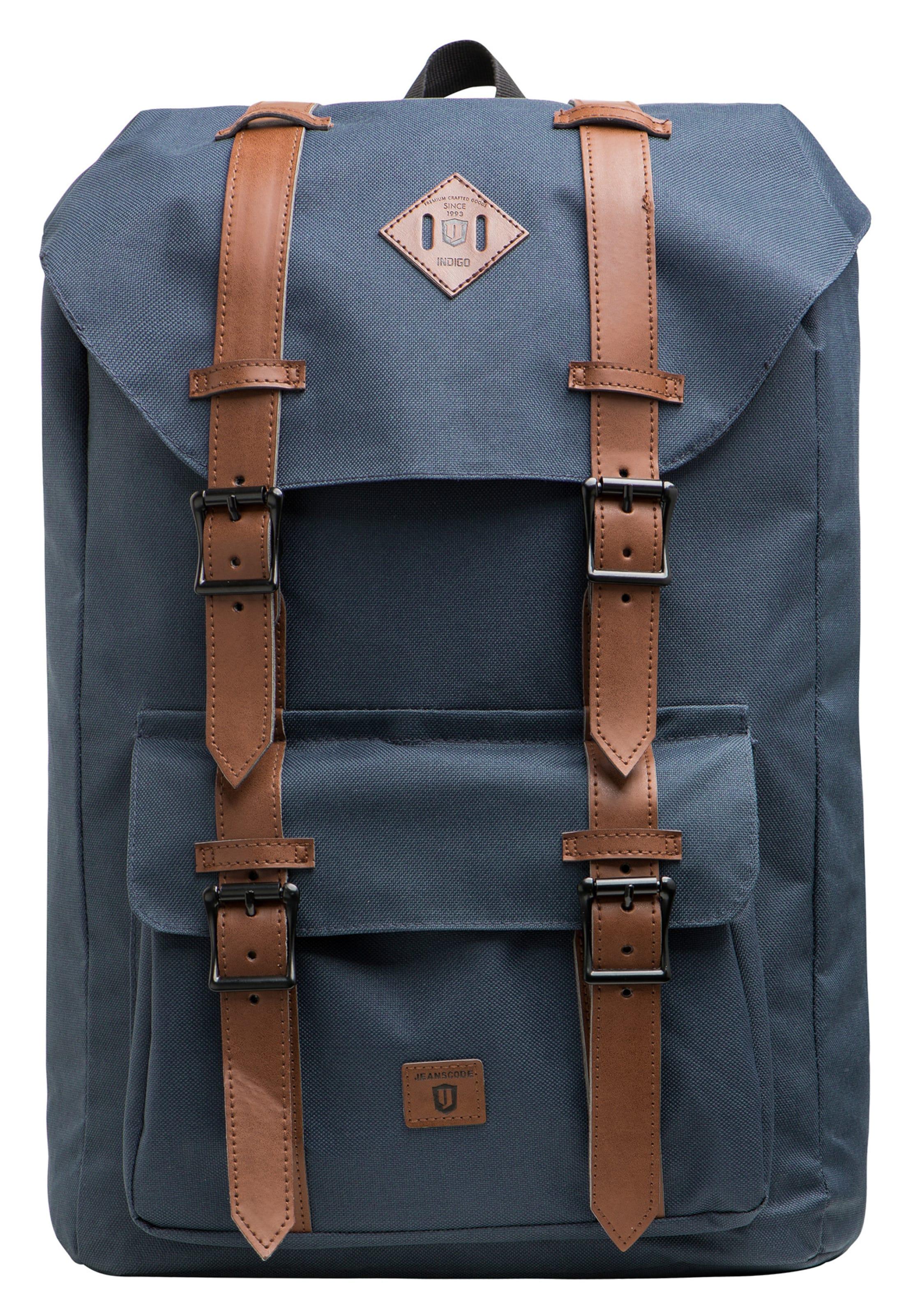 Jeans Backpack In Indicode 'heiss' BraunGraumeliert P8nZwO0NkX