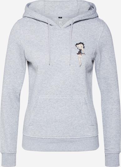 Merchcode Sweat-shirt 'Betty Boop' en gris chiné, Vue avec produit