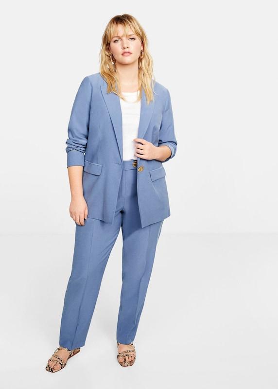 lilaA by Mango Blazer 'Cupro' in rauchblau    Markenkleidung für Männer und Frauen a70fe9