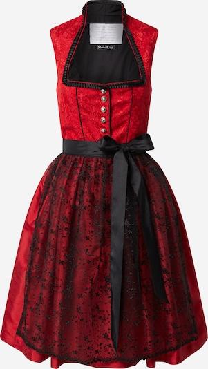 MONDKINI Dirndl 'Serena' in rot / schwarz, Produktansicht