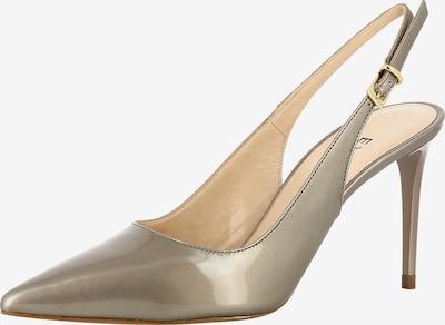 EVITA Sling Pumps 'JESSICA' in gold / rauchgrau: Frontalansicht