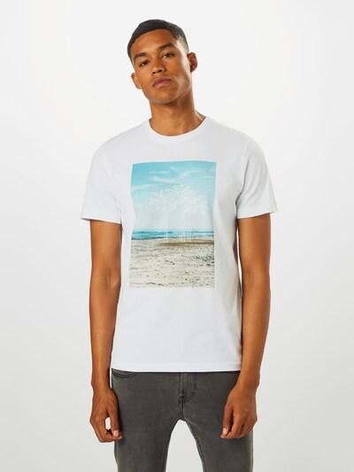 SELECTED HOMME Koszulka 'SUNSET' w kolorze mieszane kolory / białym: Widok z przodu