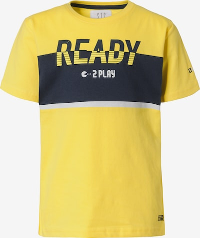 STACCATO T-Shirt in marine / gelb / hellgrau, Produktansicht