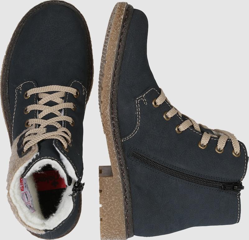 RIEKER Schnürstiefelette mit Kuschelfutter Verschleißfeste billige Schuhe