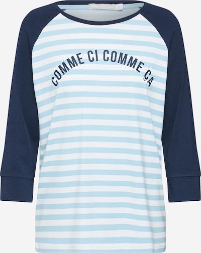 Mey Shirt in hellblau / dunkelblau / weiß, Produktansicht