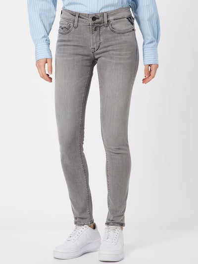 REPLAY Jeans 'NEW LUZ' in de kleur Grey denim, Modelweergave