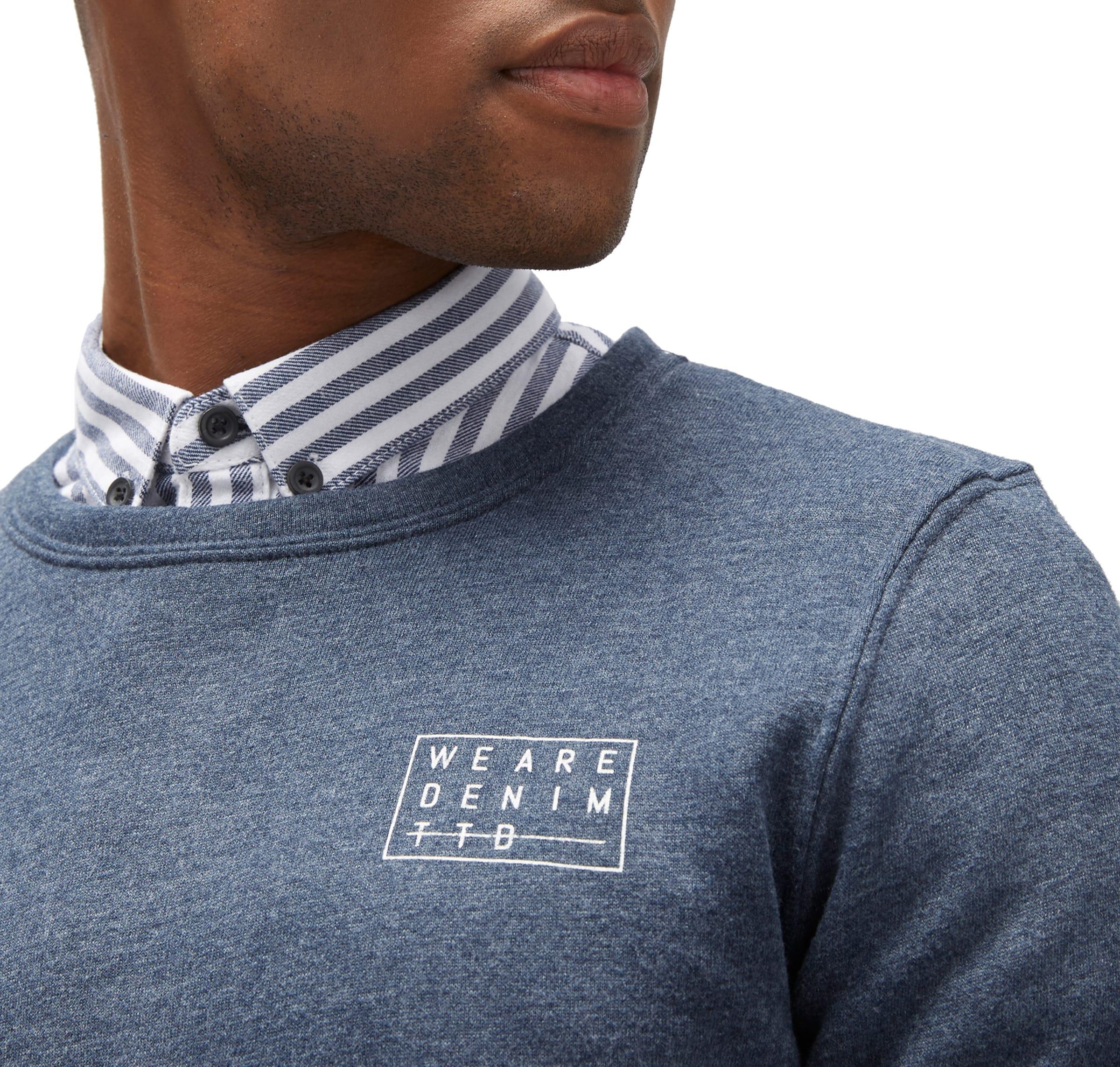 Verkauf 2018 Unisex TOM TAILOR DENIM Sweat Langarmshirt mit Schriftzug Großer Verkauf Online Echt Gemütlich QEoZi9CVb