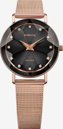 JOWISSA Quarzuhr Facet Swiss Ladies Watch in rosegold / schwarz, Produktansicht