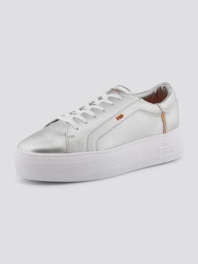 TOM TAILOR DENIM Shoes Metallic Sneaker in orange / silber / weiß, Produktansicht