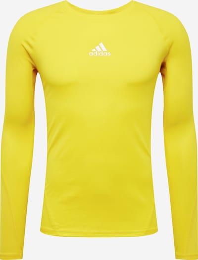ADIDAS PERFORMANCE Sportshirt in gelb / weiß: Frontalansicht