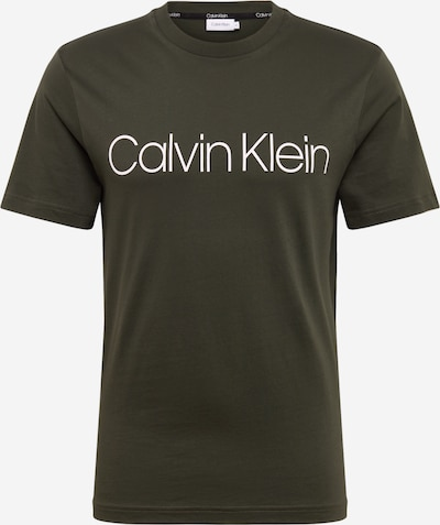 Calvin Klein Tričko - olivová / biela, Produkt