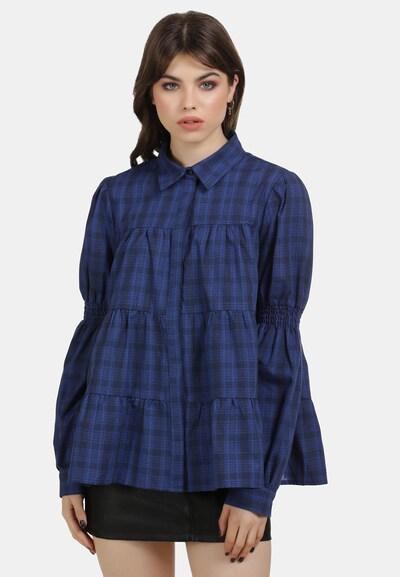 MYMO Bluse in blau / schwarz, Modelansicht