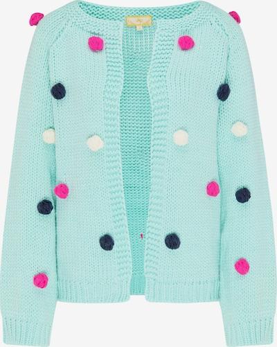 Beliebt Frauen Bekleidung MYMO Strickjacke in nachtblau / mint / pink / weiß Zum Verkauf