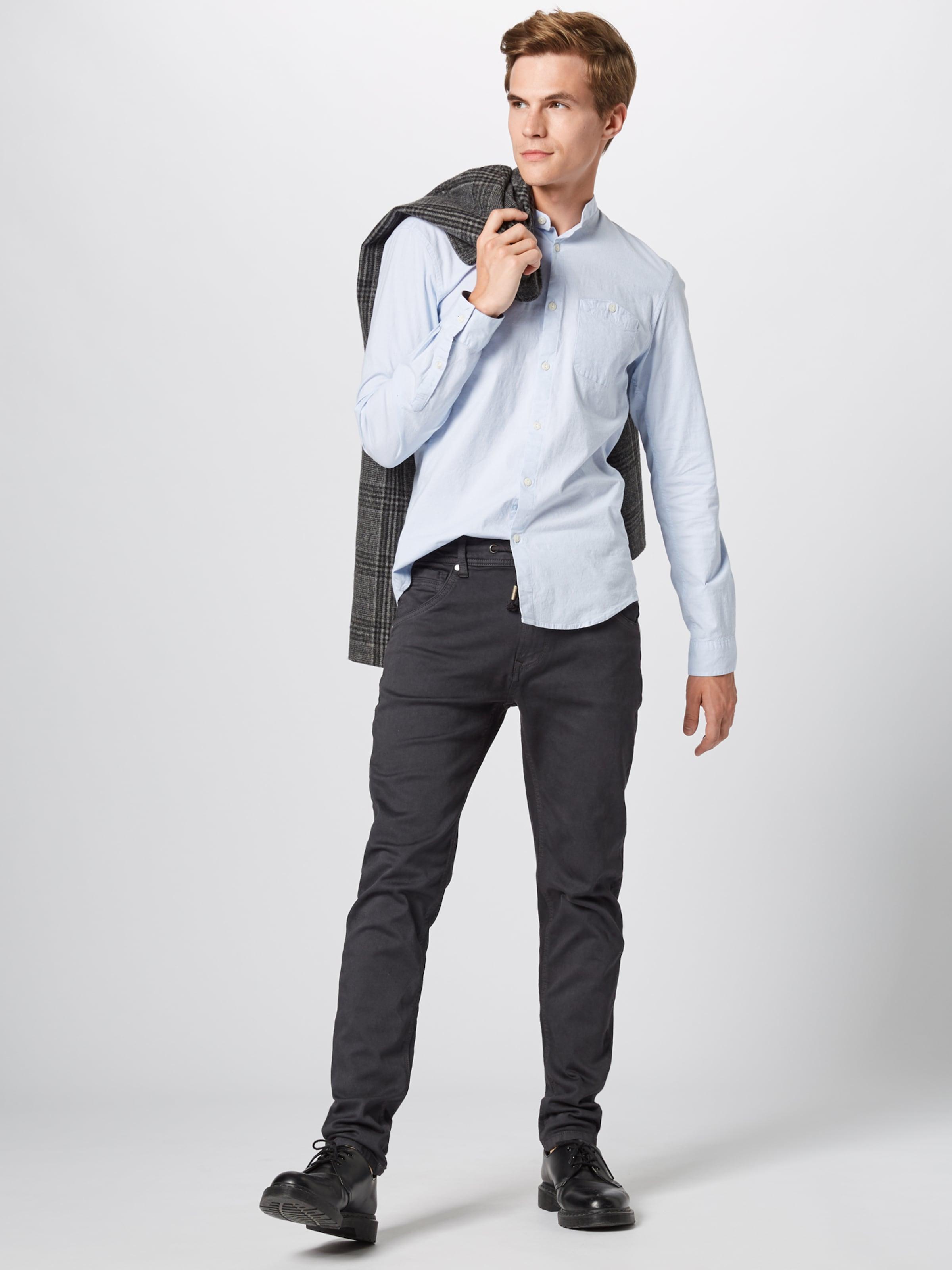 Tailor Poplin 'stretch Hellblau Tom Denim Ma' In Hemd 7yb6gf