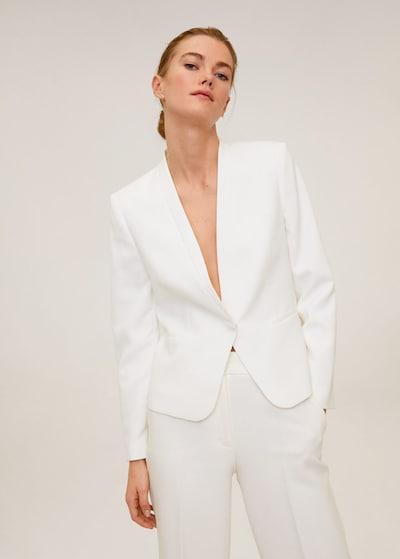 MANGO Marynkarka 'Leli' w kolorze nakrapiany białym, Podgląd na modelu(-ce)