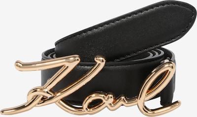 Karl Lagerfeld Ledergürtel 'signature' in gold / schwarz, Produktansicht