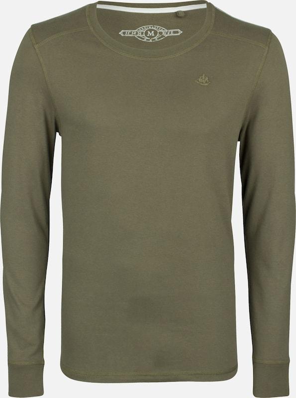 DREIMASTER Longsleeve in oliv  Markenkleidung für Männer und Frauen