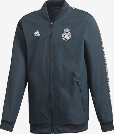 ADIDAS PERFORMANCE Trainingsjacke 'Real Madrid' in basaltgrau: Frontalansicht