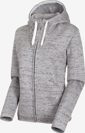 MAMMUT Sweatjacke 'Chamuera Ml' in grau / schwarz, Produktansicht