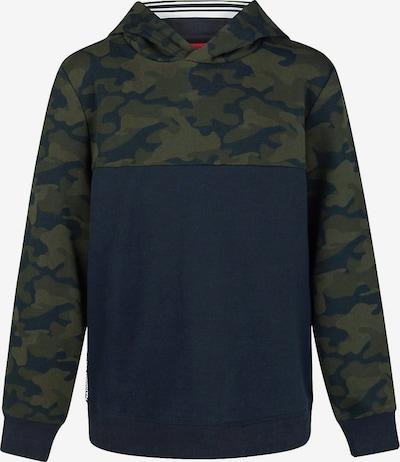WE Fashion Sweater 'Blair' in dunkelblau / khaki, Produktansicht