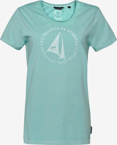 CODE-ZERO T-Shirt 'St. Barth' in pastellgrün / weiß: Frontalansicht