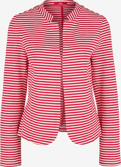s.Oliver Sweatblazer in rot / weiß, Produktansicht