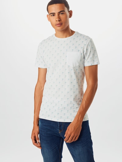 BLEND Tričko 'Tee' - biela: Pohľad spredu